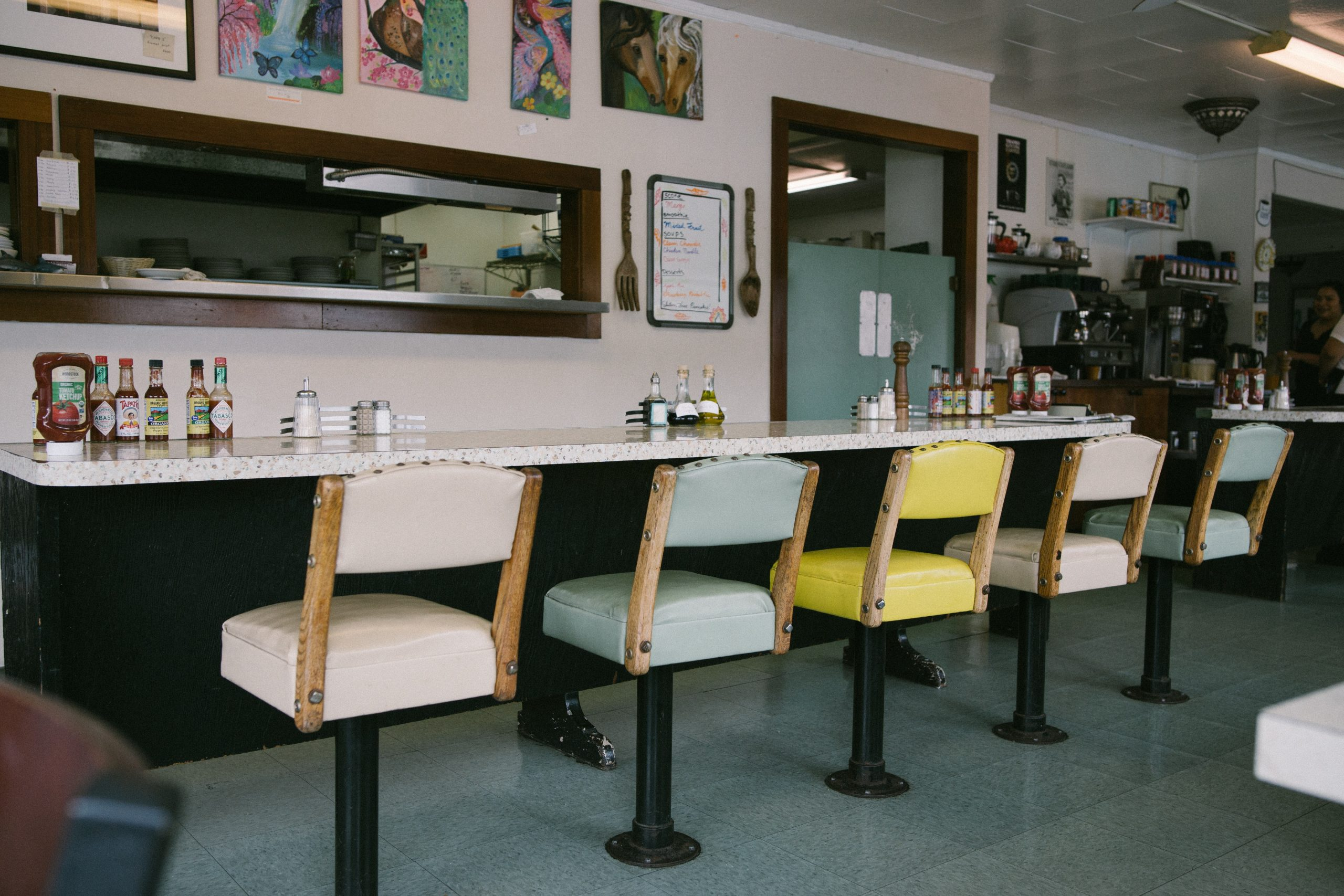 empty diner counter