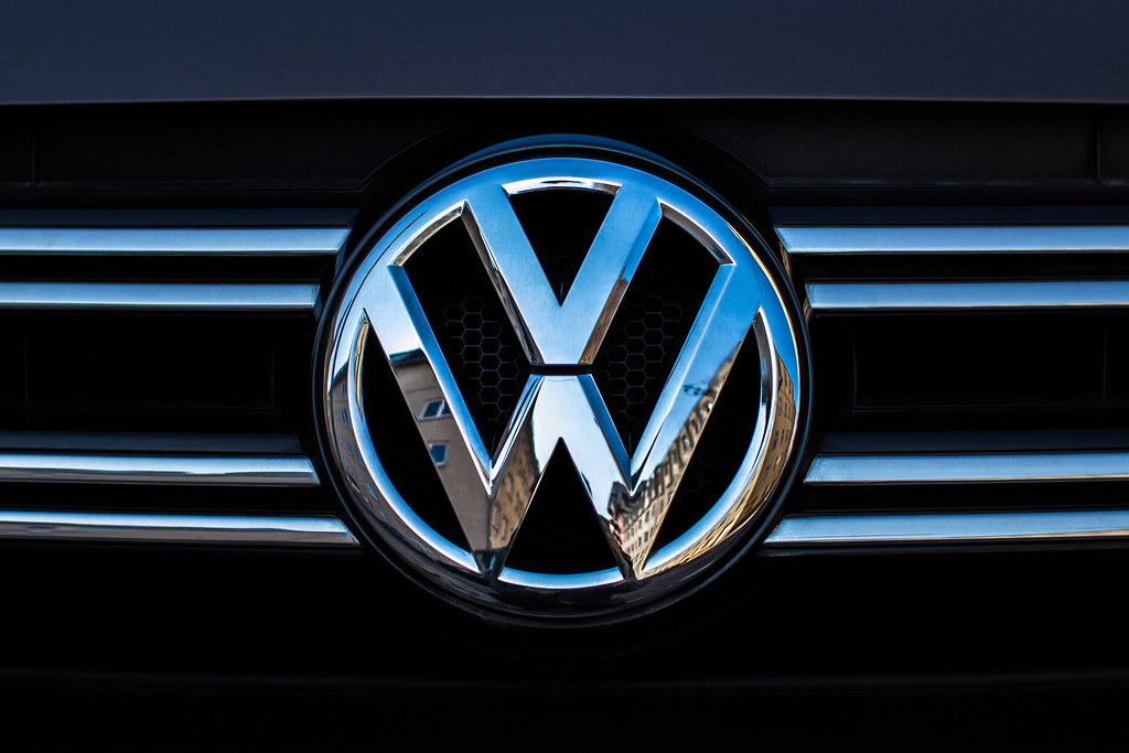 Volkswagen symbol on a car