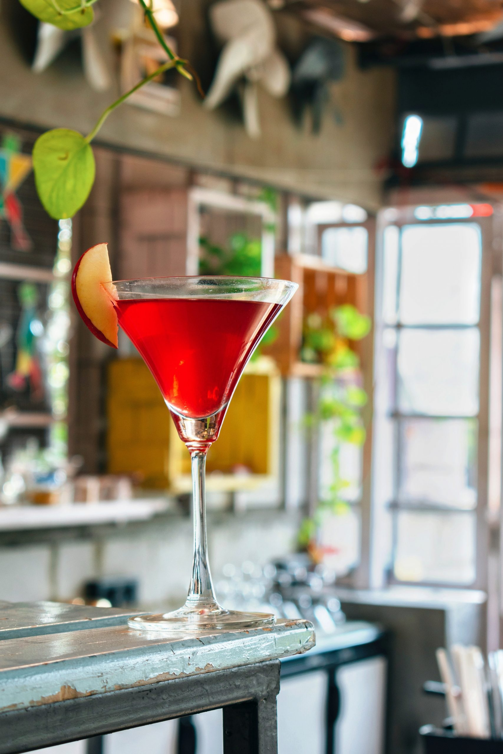 mocktail in a martini glass