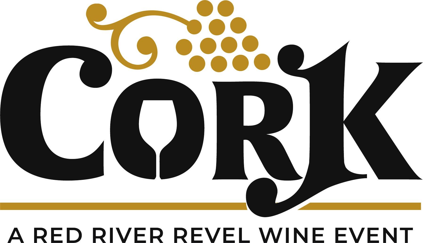 cork red river revel wine logo